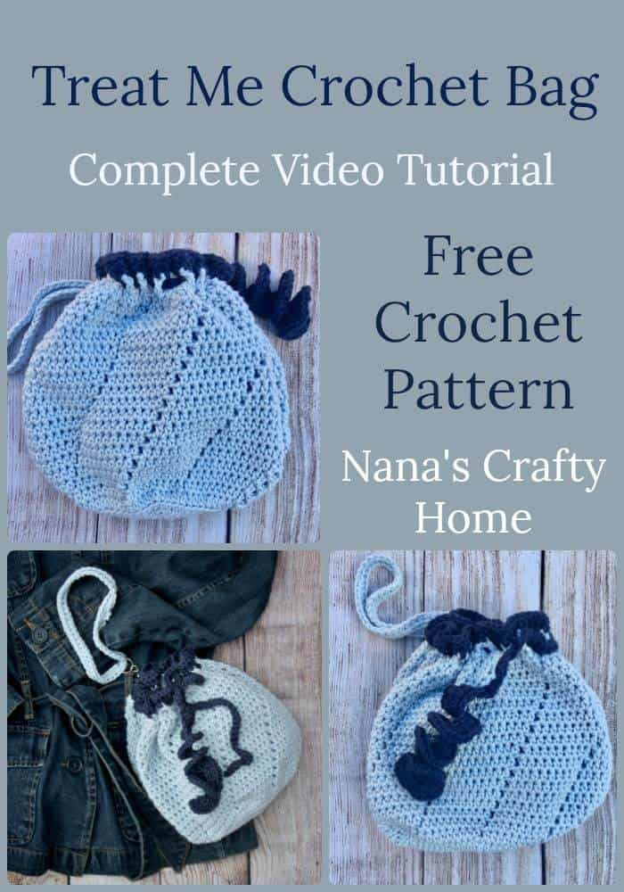 Treat Me Crochet Bag Free Pattern Video Tutorial