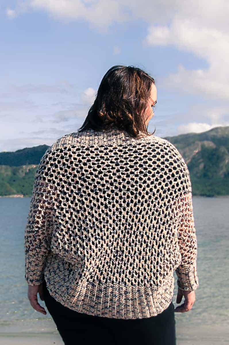 Mollis Wrap Cardigan free crochet pattern by Joy of Motion