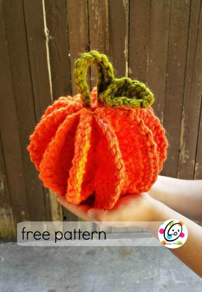 Jumbo Pumpkin Pattern by Snappy Tots