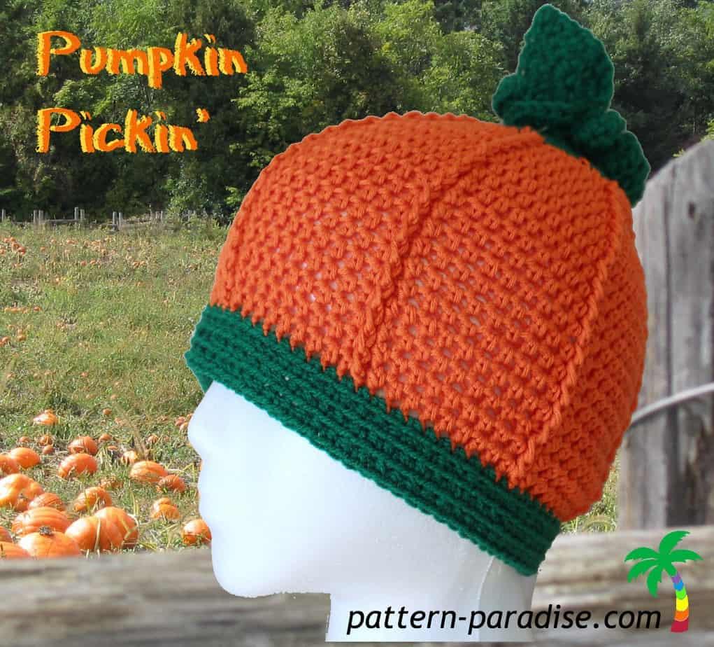 Pumpkin Pickin Hat free crochet pattern by Pattern Paradise