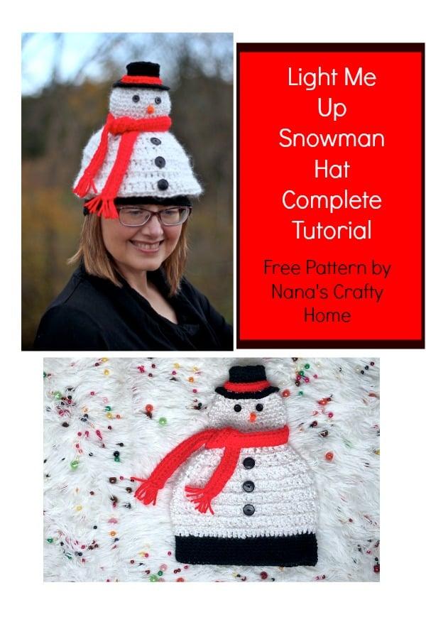 Light Me Up Snowman Hat Complete Video Tutorial
