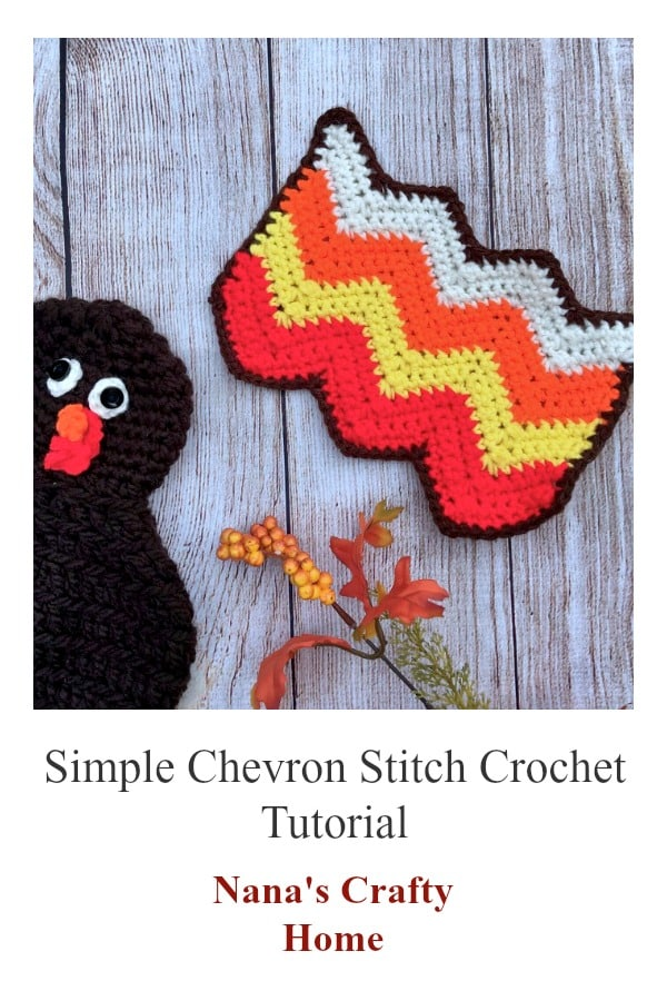 Simple Chevron Crochet Stitch Tutorial