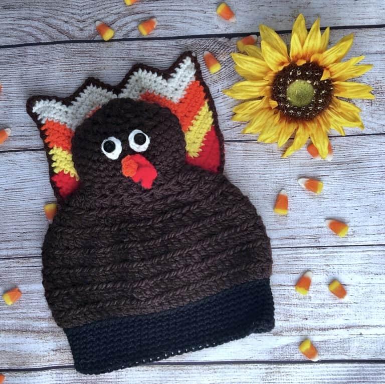 Wacky Waddles Turkey Hat free crochet pattern
