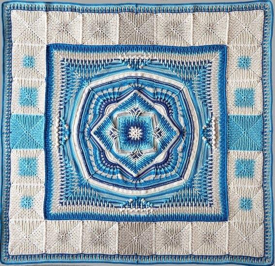 Elements CAL Blanket free crochet pattern by Hooks & Yarn