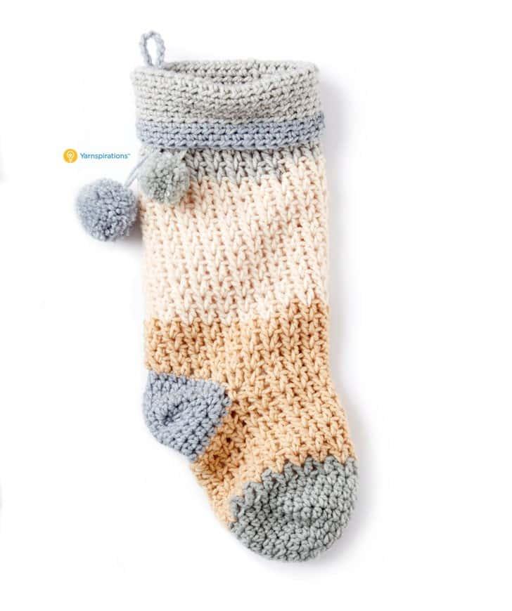 Free crochet Christmas Stocking by B. Hooked Crochet