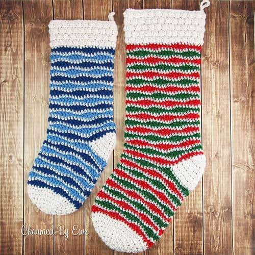 Crochet Christmas Stocking pattern roundup