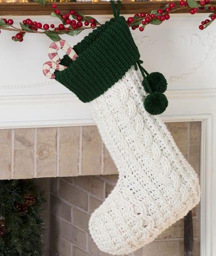 Crochet Christmas Stocking free pattern roundup