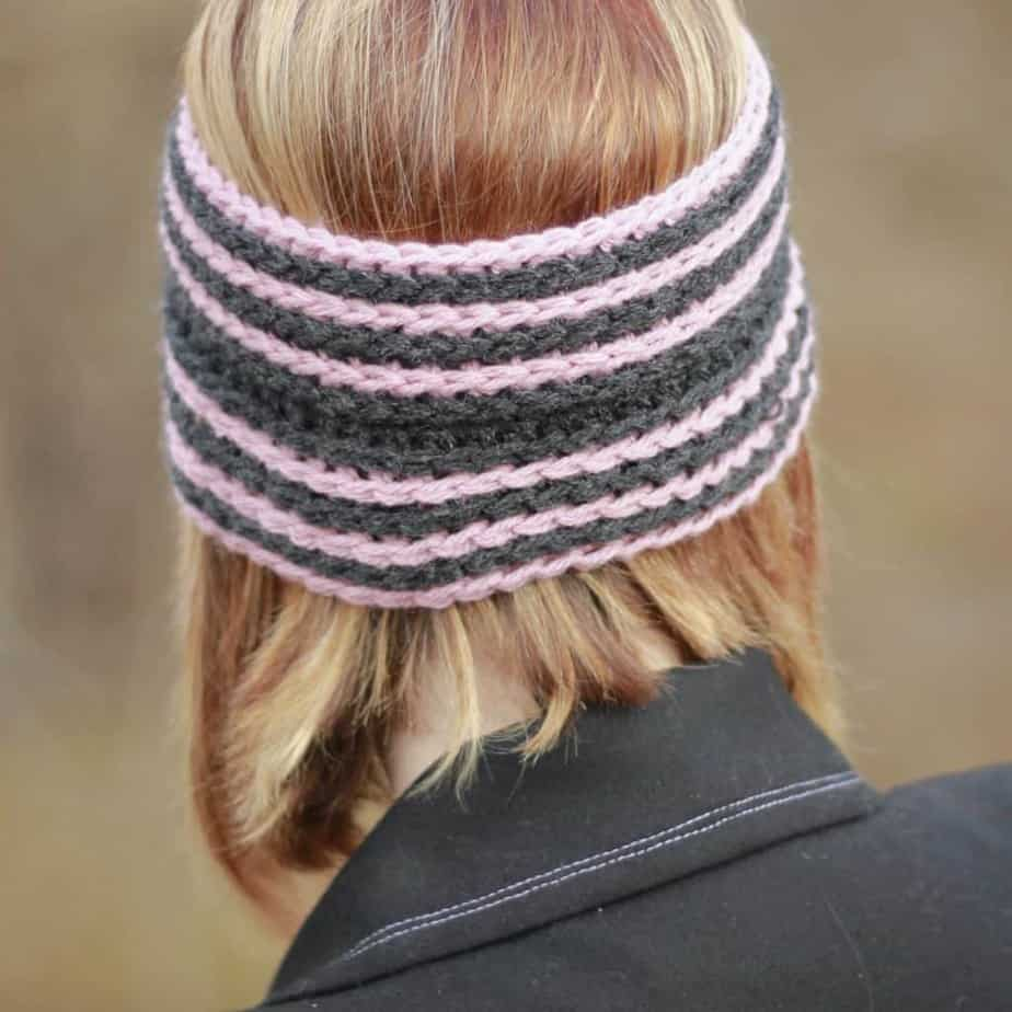 Fast Track Head Wrap Ear Warmer free crochet pattern