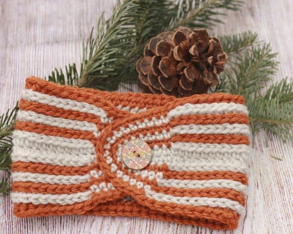 Fast Track Head Wrap Ear Warmer free crochet pattern video tutorial