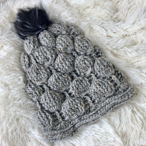 Balloon Stitch Slouchy Hat Free Crochet Pattern