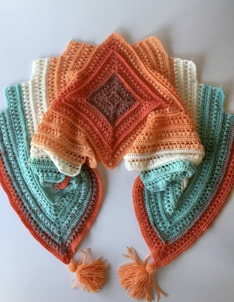 Wrap Me in Sunshine Shawl Complete Video Tutorial