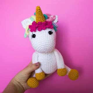 Free Unicorn Pattern by The Friendly Red Fox