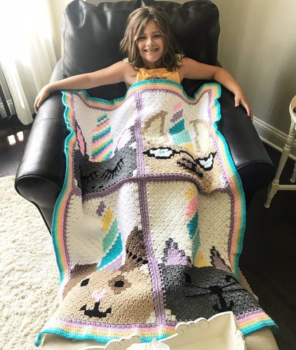 Unicorn Character Afghan by Lovable Loops
