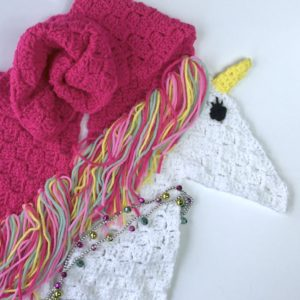 Unicorn Scarf C2C free crochet pattern