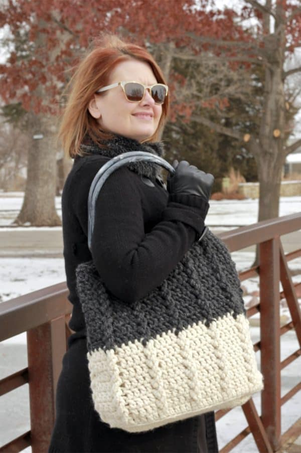Free Crochet Pattern tote bag