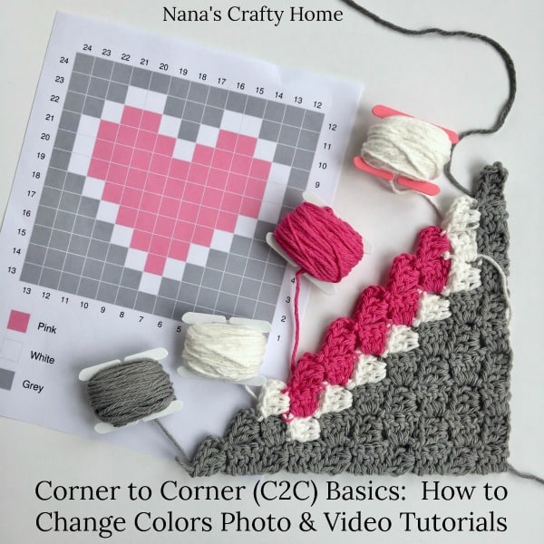 Corner to Corner (C2C) Basics: How to Change Colors Photo & Video Tutorial
