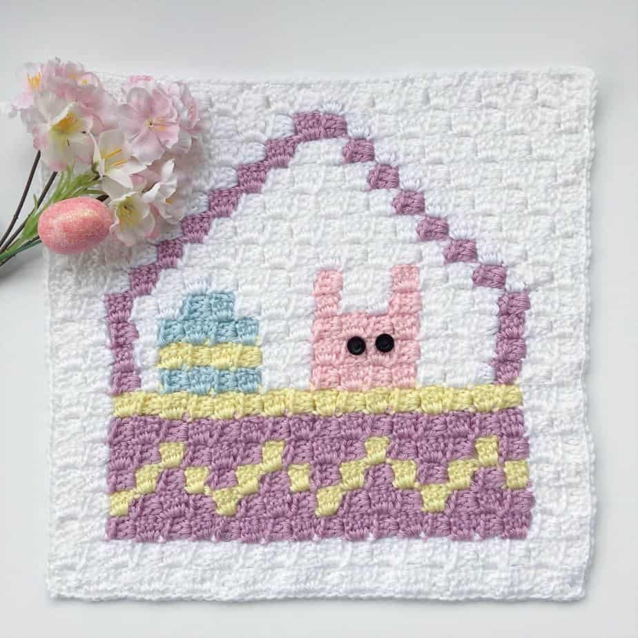 Easter Basket C2C Square Easter Blanket Graphgan CAL Part 3