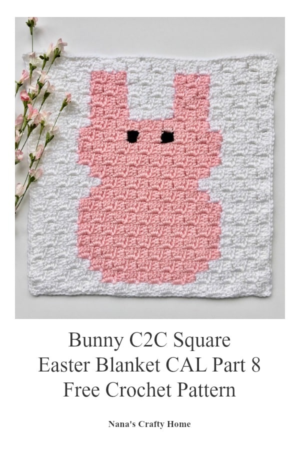 Bunny C2C Square Easter Blanket Graphgan CAL Part 8