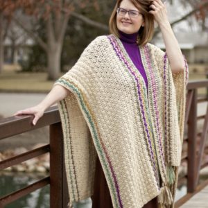 Many Wonders Ruana Wrap free crochet pattern