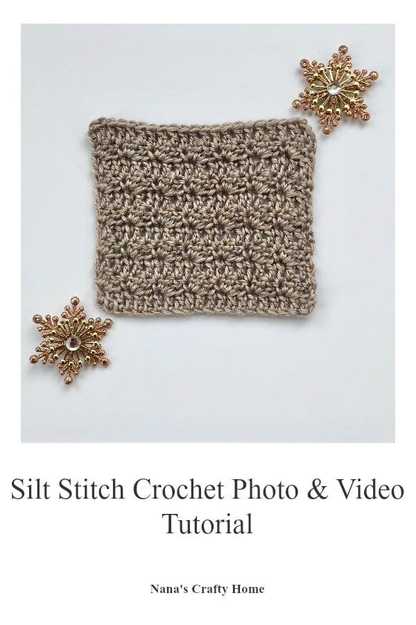 Silt Crochet Stitch Photo & Video Tutorial