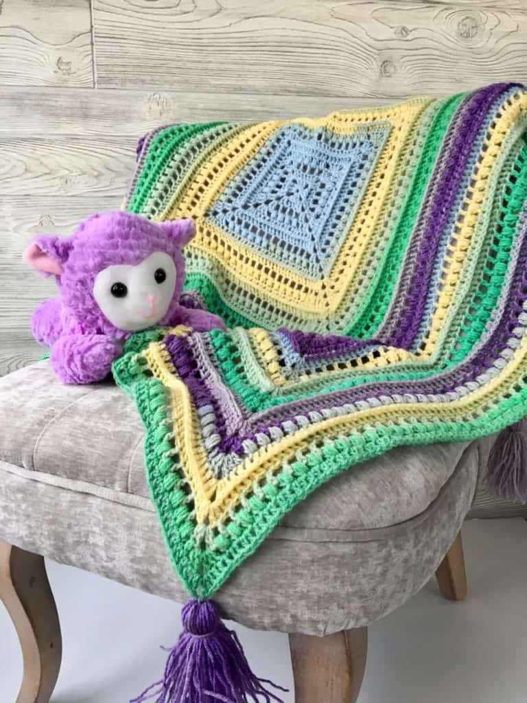 Wrap Me in Sunshine Blanket free crochet pattern