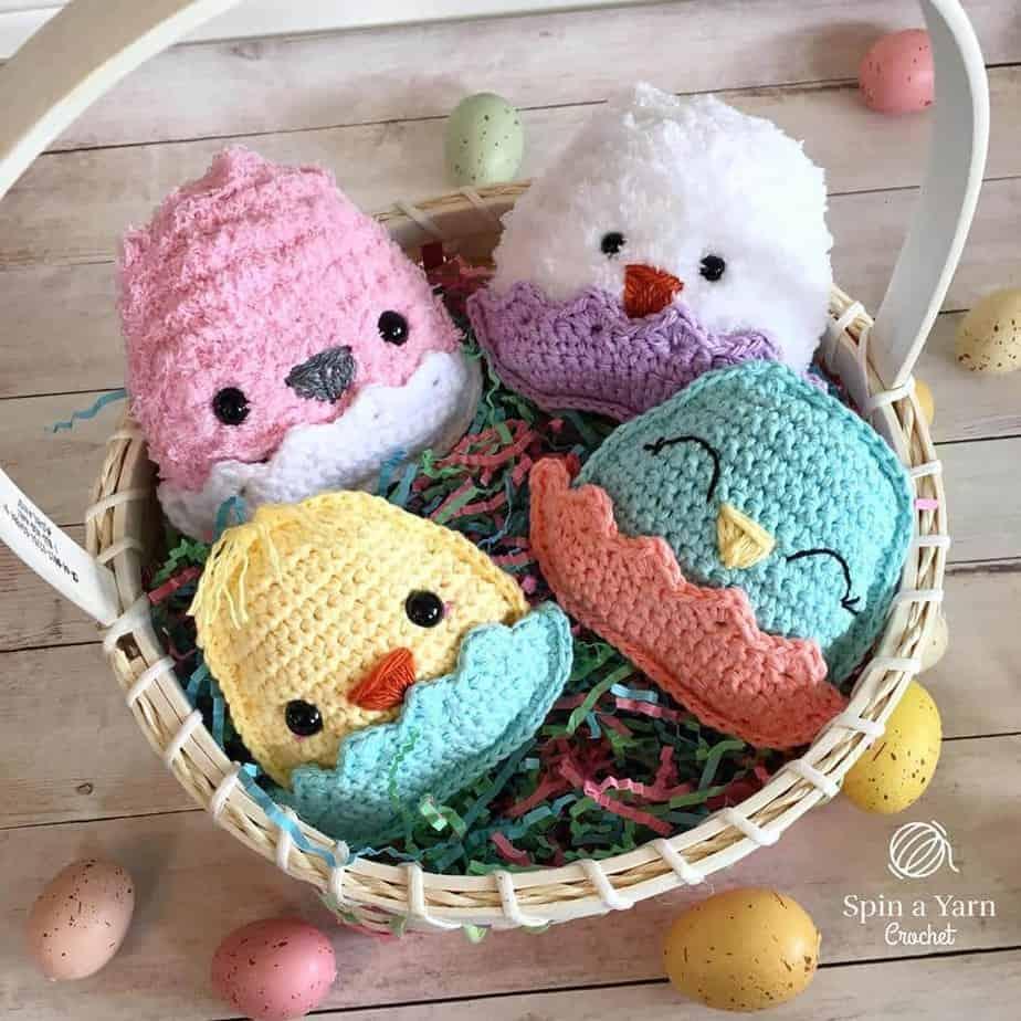 Chubby Spring Chicks Free Crochet Pattern by Spin a Yarn Crochet