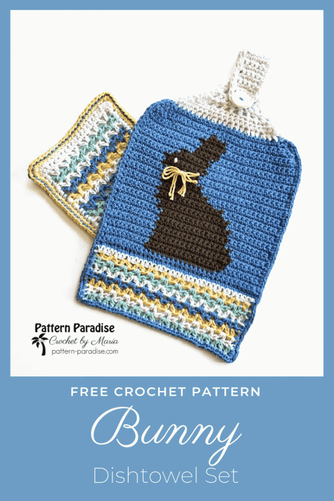 Bunny Dishtowel Set free crochet pattern by Pattern Paradise