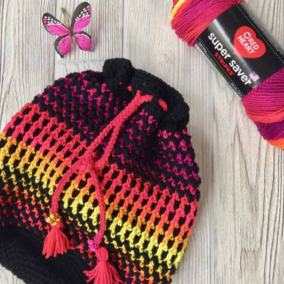 Butterfly Wings Bucket Bag Free Crochet Pattern