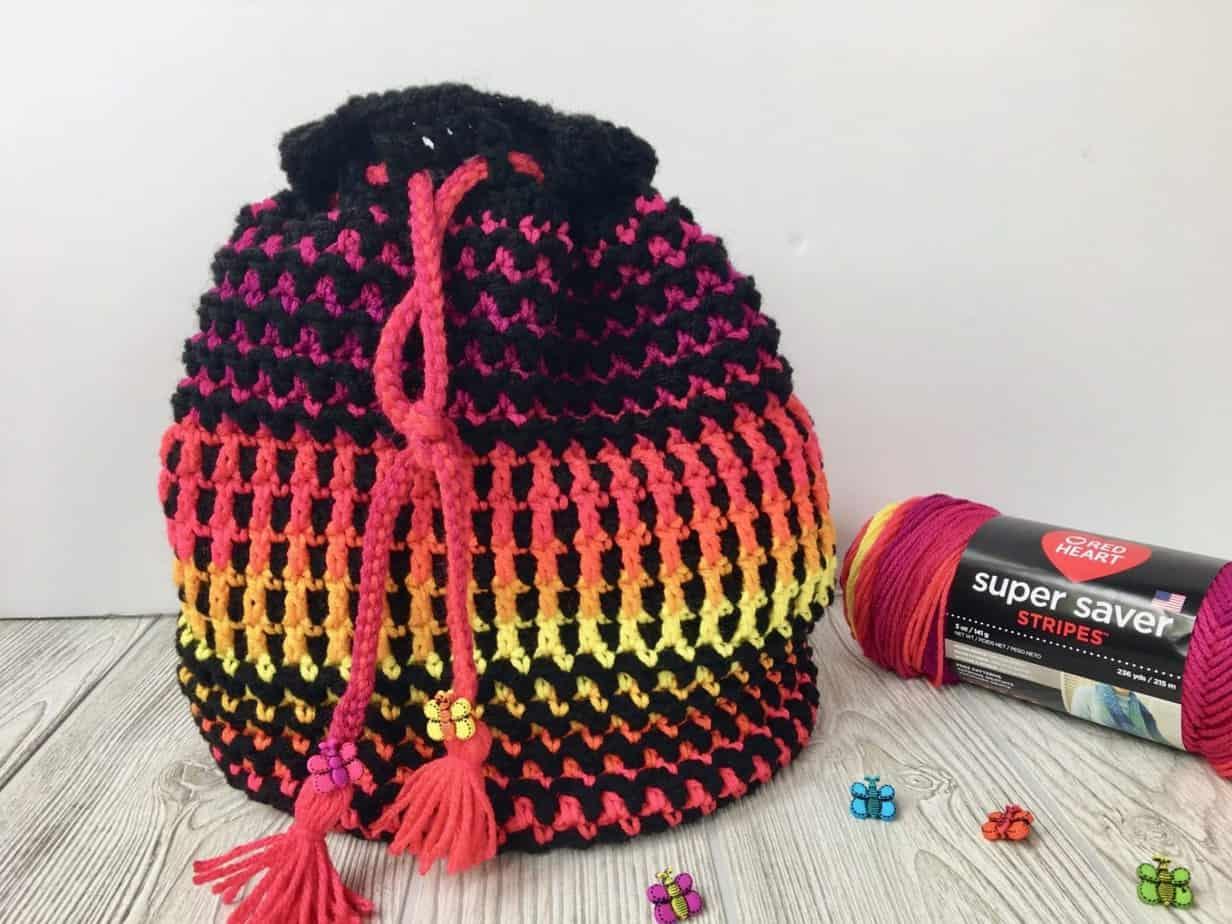 Crochet Bucket Bag Pattern Butterfly Wings Crochet Bag