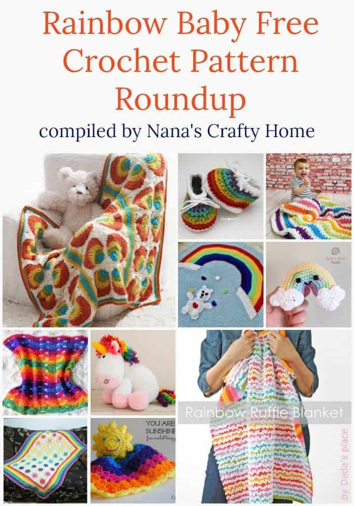 Rainbow Baby Free Crochet Pattern Roundup at Nana's Crafty Home