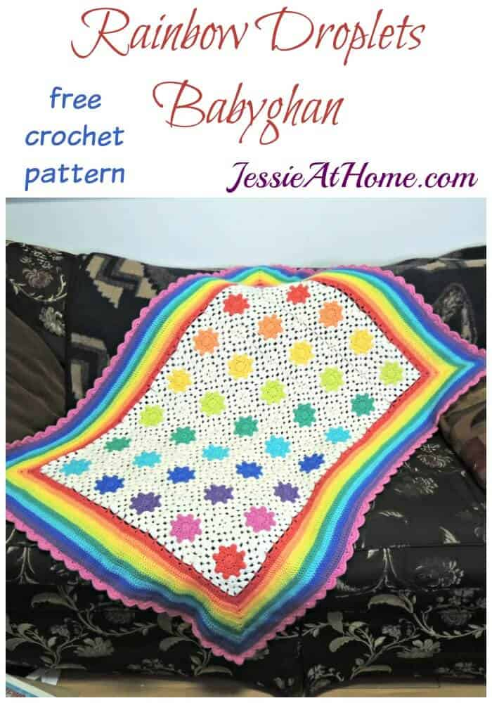 Rainbow Droplets Babyghan Crochet pattern by Jessie at Home