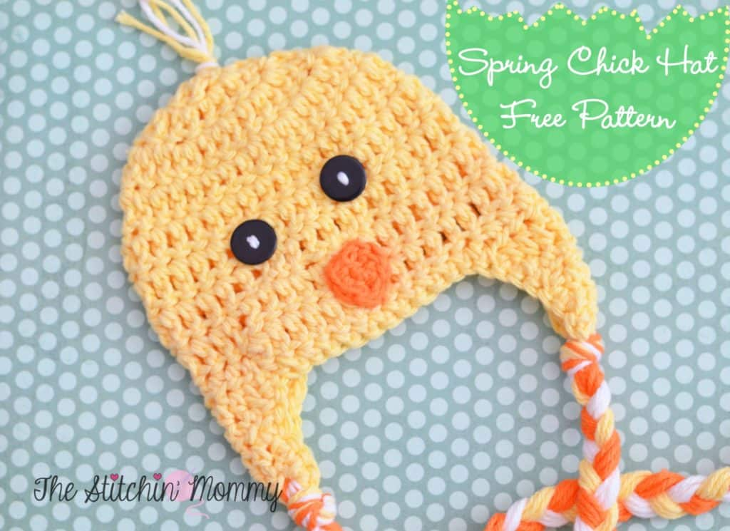 Spring Chick Hat free crochet pattern by The Stitchin Mommy