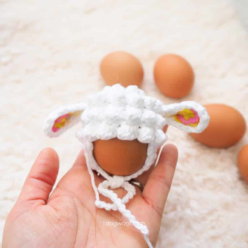 Easter Egg Lamb Hat free crochet pattern by One Dog Woof