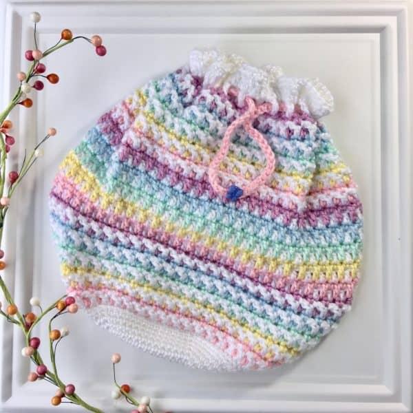 Butterfly Wings Bucket Bag free crochet pattern