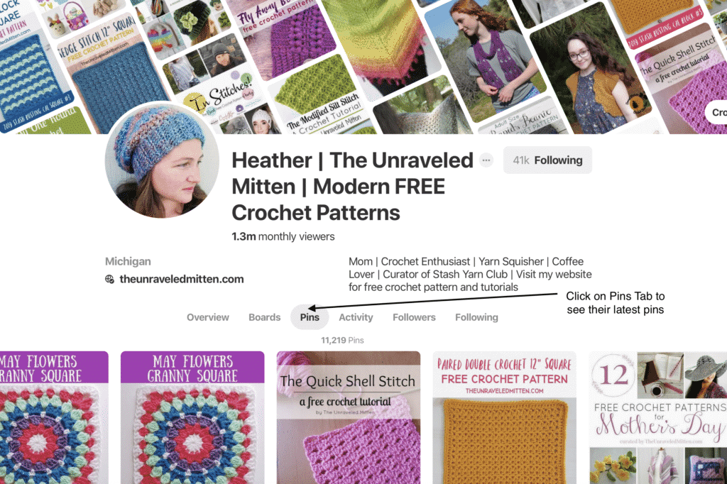 Guide to finding free crochet patterns on Pinterest