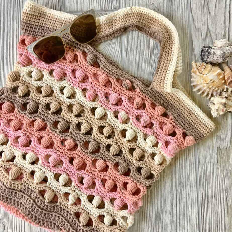 free crochet tote market bag pattern