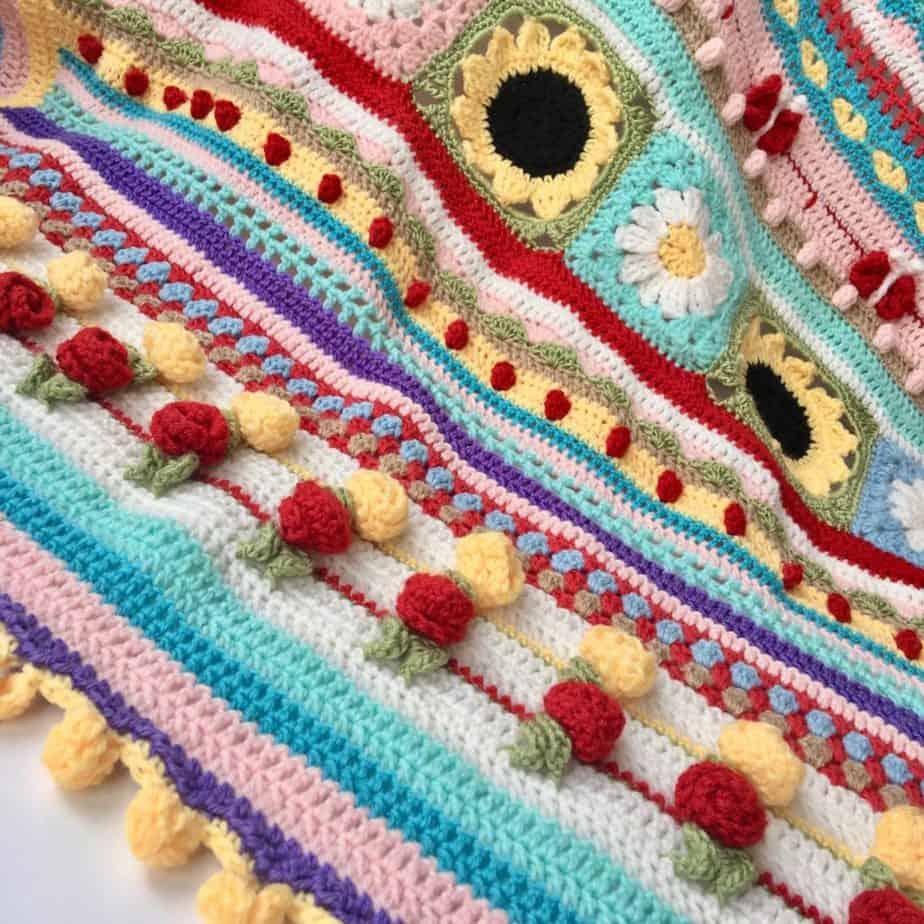 Summer Love Blanket pattern designed by SpitSpot Crochet