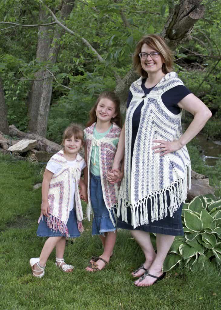 Boho Vest Triangle Trio Child Sizes Free Crochet Pattern