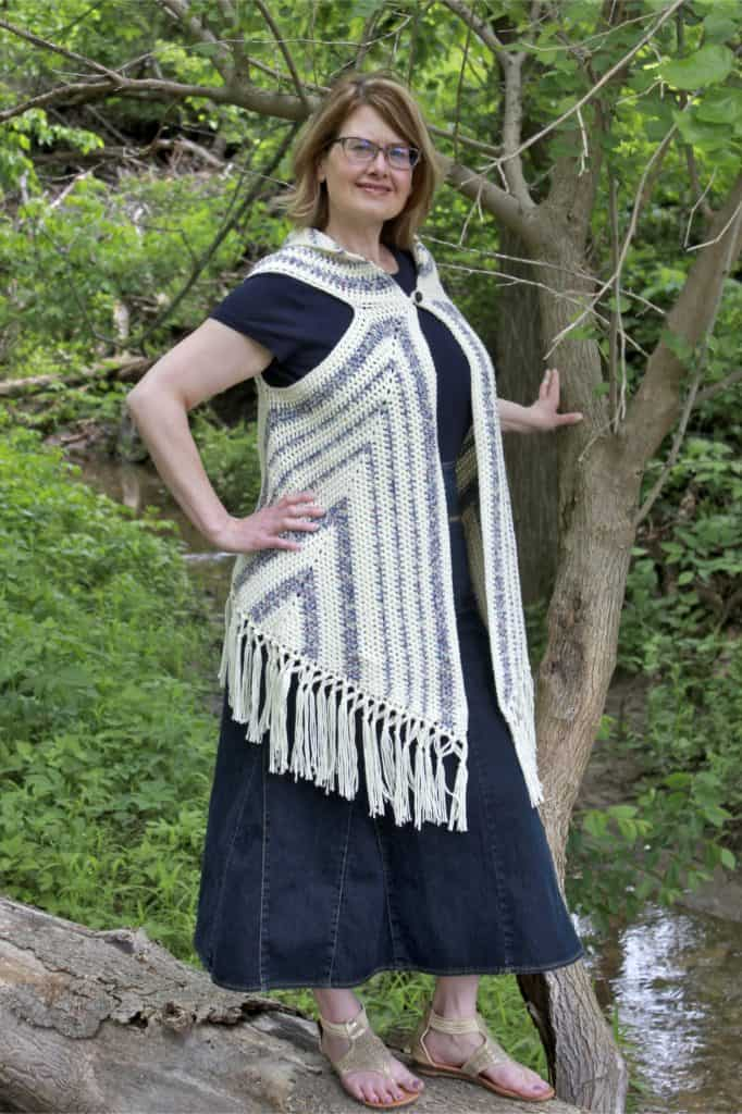 Boho Vest Triangle Trio Free Crochet Pattern Complete Video Tutorial