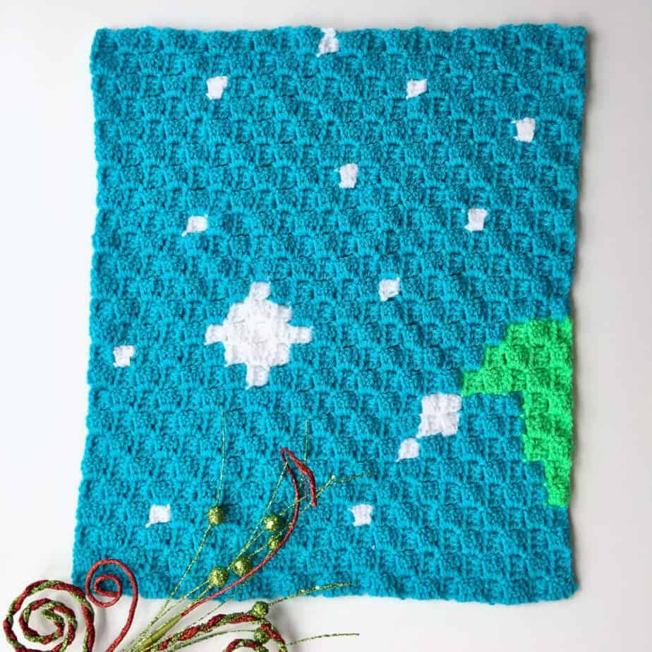 Gnome for Christmas C2C Blanket Christmas in July CAL Panel #5 free crochet pattern