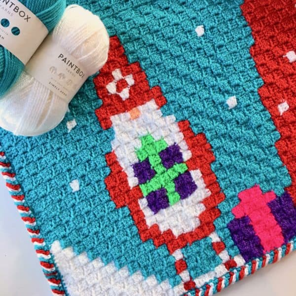 Gnome for Christmas Crochet a Long C2C Blanket free crochet pattern