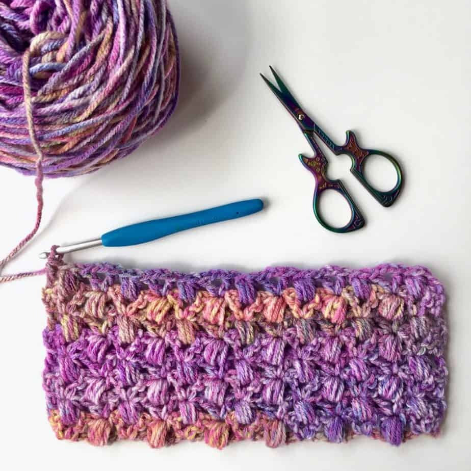 Lace Cluster Crochet Stitch Tutorial