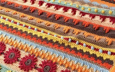 Stitch Sampler Autumn Rhapsody Blanket CAL Announcement free crochet pattern