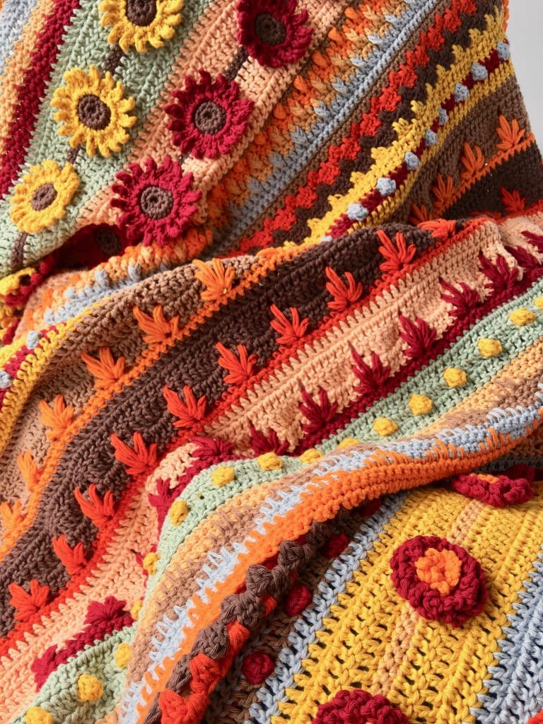 Autumn Rhapsody Blanket CAL Announcement free crochet pattern
