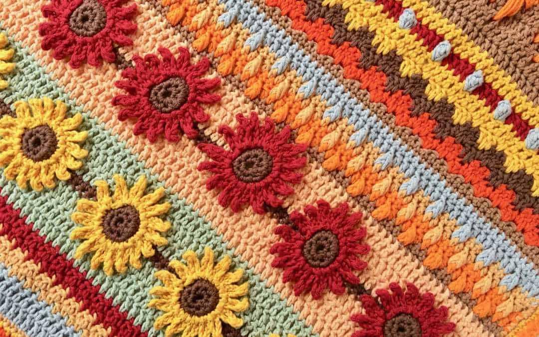 Stitch Sampler Autumn Rhapsody Blanket CAL Part 1 free crochet pattern