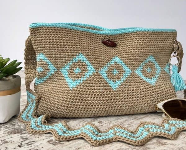 Chasing Diamonds Tapestry Crochet Bag