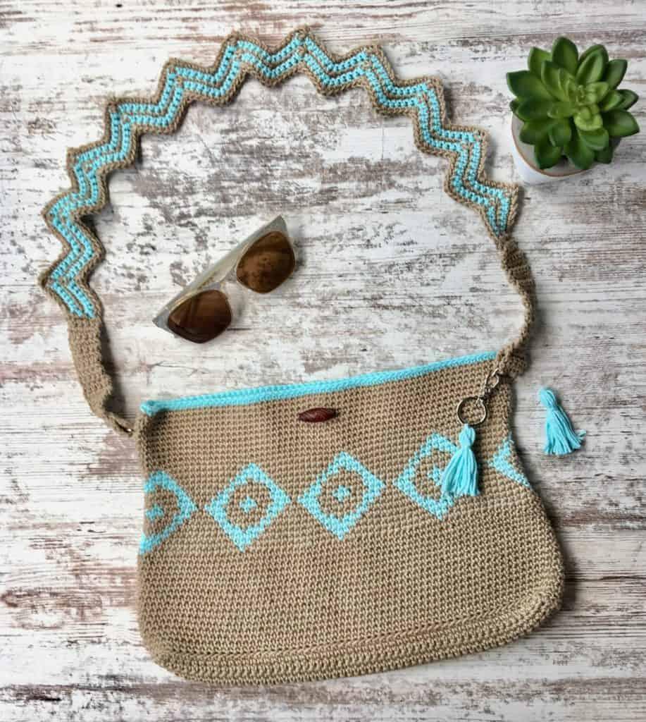 Chasing Diamonds Tapestry Crochet Bag