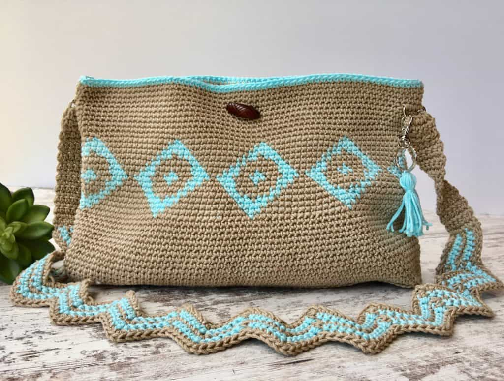 Chasing Diamonds Tapestry Crochet Bag Video Tutorial