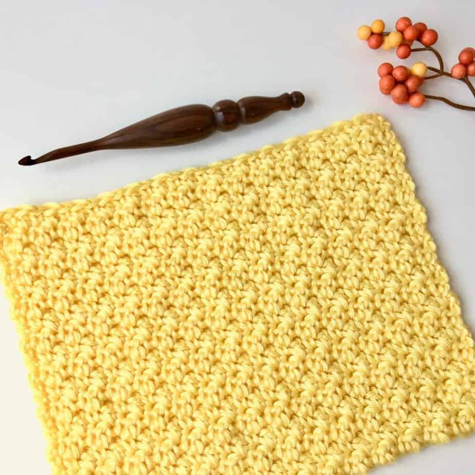 Lemon Peel Crochet Stitch Photo & Video Tutorial