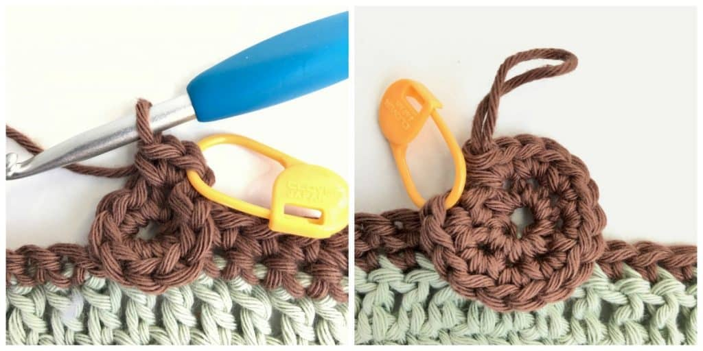 Learn how to make the gorgeous Sunflower crochet stitch with this complete photo and video tutorial by Nana's Crafty Home!  No sewing required!  A  happy and cheerful crochet stitch that is featured in the Autumn Rhapsody Blanket Crochet a Long a free pattern at Nana's Crafty Home.  #nanascraftyhome